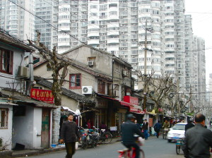 Quartier Zhabei à Shanghai, en 2010