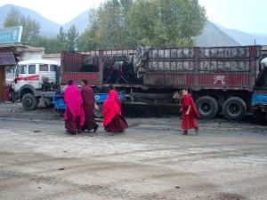 Charbon et culture dans le «Tibet intérieur» à Xiahe, Chine