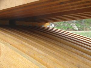 Pont en bois sur la rivière Montmorency, dans la Forêt Montmorency