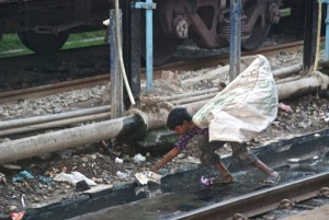 Photo Marie-Josée Bergeron à la gare de Varanasi en Inde, le 18 février 2014