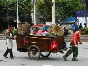 Travailleurs à Chongqing