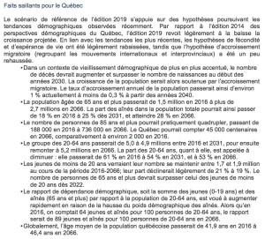 ISQ Faits saillants pour le Québec